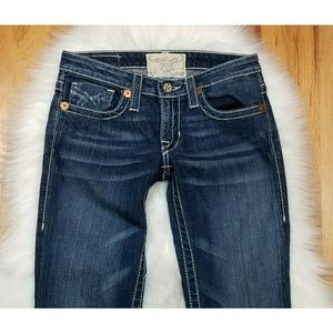 Big Star Liv Vintage Bootcut Jeans Dark Wash 26L
